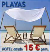 Más de 3.000 hoteles en zonas de playa. Numerosas ofertas a precios rebajados